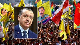 Proti Erdoganovi vyšlo do ulic 30 tisíc Kurdů. Šikovali se v Kolíně nad Rýnem