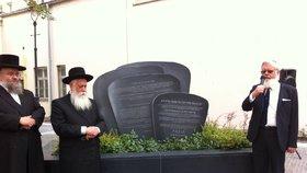 Rabíni odkryli památník v centru Prahy. Připomíná nejstarší židovský hřbitov