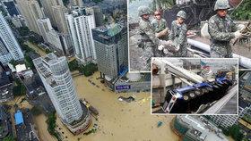 Zrušené lety, zavřené školy a 27 pohřešovaných. Tajfun v Číně opět zasáhl