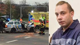 Pod vlivem pervitinu ujížděl policistům z Prahy až do Plzně: Soud mu potvrdil 8,5 roku ve vězení