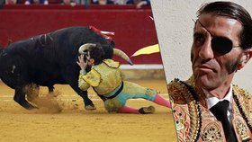 Býk nabodl toreadora do očního důlku, kam už to jednou schytal