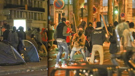 Migranti proměnili Paříž v bojiště: Mlátí se mezi sebou holemi