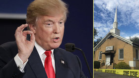 V USA vypálili černošský kostel, na zdi byla výzva k volbě Trumpa