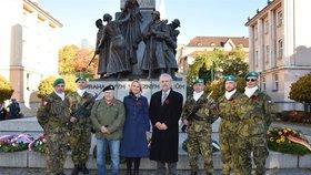 V Zítkových sadech uctili válečné veterány. Oslavy vyvrcholí 11. listopadu