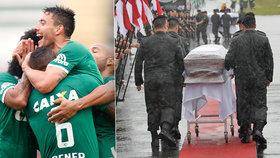 Nejsmutnější choreo: Sto tisíc lidí se loučí s fotbalisty z letadla smrti