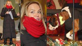 Havlová vyzrála nad mrazem: Zachumlala sebe i psa!