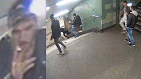 Svetoslav brutálně skopl ženu v metru: Do Německa ho přivezl český autobusák!