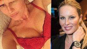 Krásná Simona Krainová: Na sociální síti dráždí v rajcovním spodním prádle