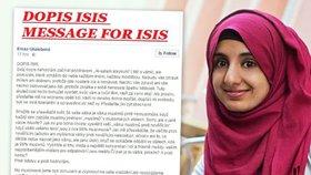 """""""Proklínám vás, jste nositeli zla."""" Teplická muslimka napsala dopis ISIS"""