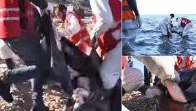 Záchranáři našli 11 rozmočených těl uprchlíků. Přeplout moře na plastu nezvládli