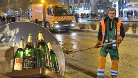 Silvestrovský úklid Prahu stál téměř milion: Popeláři odvezli 30 tun odpadků