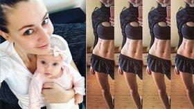 Chlebovská se pochlubila břichem. 4 měsíce po porodu má slušný pekáč buchet