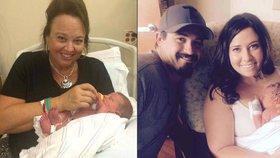 Žena porodila vlastního vnuka: Donosila dítě pro neplodnou dceru