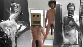 Velká galerie hanbářů z Hollywoodu: Slavní se fotí nazí a chlubí se na sítích