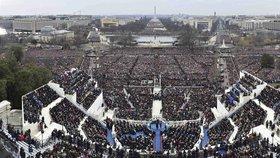 Trumpova inaugurace do detailu: Prozkoumejte výrazy v davu na gigapixelové fotce