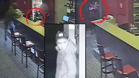 Šokující záběry z přepadené herny: Lupič mával zbraní u hlavy holčičky (3), viděla celý útok, matka ji pak zamkla