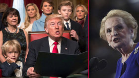 Týden s Trumpem: Mučení, Albrightová muslimkou, zeď s Mexikem i zlatý koberec