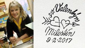 Valentýnská pošta v Milostíně na Rakovnicku: Rozdávají zamilovaná razítka