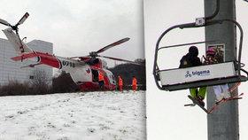 Vlekaři na Monínci nezastavili lanovku, ze které spadlo dítě (5): Ohrozili další lyžaře?