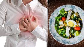 Češi často umírají na nemoci srdce. Experti: Riziko může snížit vhodná strava