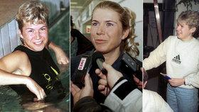 Retro snímky lyžařky Neumannové: Kolik účesů za svou kariéru vyzkoušela?