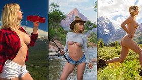 Nejvíce sexy cestovatelka světa: Playmate dráždí fanoušky polonahými fotkami z túr