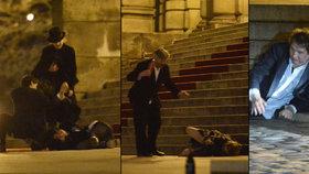 Rozjetý mejdan na Českých lvech: Opilí lidé se váleli na chodníku a padali obličejem ze schodů