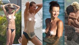 Nestydatý ostrov Svatého Bartoloměje: Slavné krásky tu odhazují plavky a ukazují své vnady!