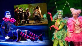 První foto z muzikálu Ferda Mravenec: Úchvatné kostýmy a cirkus chtějí děti odtrhnout od videoher