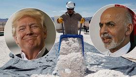 Afghánistán našel způsob, jak získat pozornost Trumpa. Láká na zásoby lithia