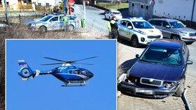 Policie při honičce střílela na ujíždějícího trestance: Po Petru Votavovi pátrá vrtulník