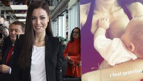 Chlebovská rázně obhajuje kojení na veřejnosti: Je to ta nejpřirozenější věc!