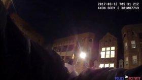 Ostrou přestřelku natočila kamera na těle policisty: 25 ran a dva zranění
