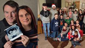 Tak už je na světě. Nejpočetnější rodina v Británii se rozrostla o dvacáté dítě