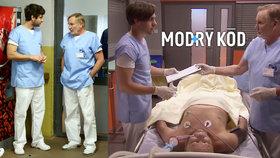 Kritizovaný seriál Modrý kód: Lékaře čeká zvracení krve kvůli baterii v krku!