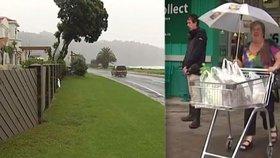 Na Nový Zéland se žene bouře století. Evakuace lidem hatí velikonoční plány