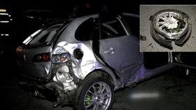 Lukáš (†17) zemřel při děsivé nehodě. Řidička nabourala do mostu, náraz odhodil vůz na kamion