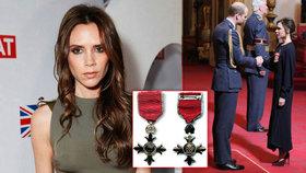 Victoria Beckham stanula před princem: Dostala řád za módu a charitu