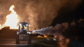 Dlouhá noc sadařů kvůli mrazu: Stromům zatopili a chránili je mlhou