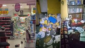 Silné zemětřesení v Chile: Evakuace pobřeží, vysypané police i regály obchodů