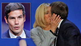 Macron odráží drby, že vztahem s o 25 let starší učitelkou skrývá homosexualitu