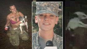 Vojačka (23) v bikinách zastřelila služebního psa! Odporný čin si natáčela