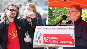 Komunisté v Brně oslavili 1. máj: Kritizovali Klause, Bělobrádka, Babiše i Sobotku!