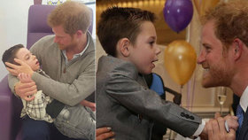 Dojemné foto prince Harryho: Překvapil nemocného umírajícího chlapce v nemocnici
