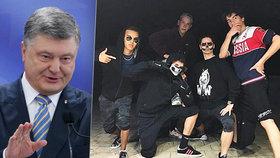 """Prezidentův syn ze """"zlaté mládeže"""" měl ruské tričko. Porošenko mu vyčinil"""