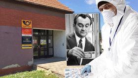 Poštovní zloděj použil fintu jako Jiří Sovák: Dezinfikované peníze ukradl!