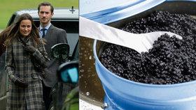 Kaviár pro Pippu za milion. Sestře vévodkyně Kate přispěl na svatbu tajemný Rus