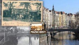 Na Žofín vede most od roku 1830. Dříve tu jezdil přívoz, sledoval ho i F. L. Věk