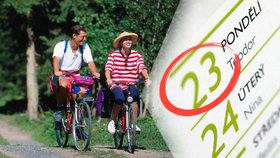Plánujte dovolenou podle počasí: Napovíme, kdy na kola, koupáním i za památkami