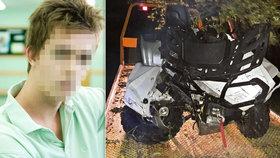 Tragédie na den dětí: Tomáš (†15) s kamarádem (12) se vybourali na čtyřkolce